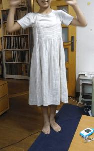 homspunのカラークロスよりジャンパースカート