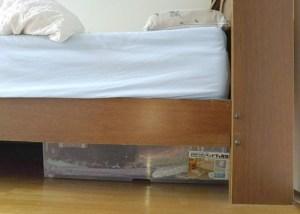 ベッド下のスペースを有効活用できる収納ケース
