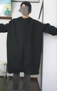 濱田明日香さんのクルーネックブルゾン着画