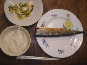 秋刀魚とご飯