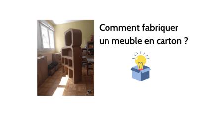 Atelier meuble en carton