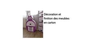 Décoration et finition des meubles en carton