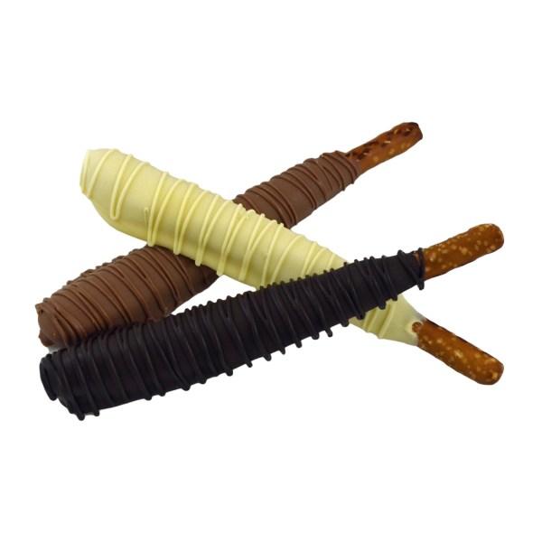 Chocolate-Covered Peanut Butter Pretzel Rods
