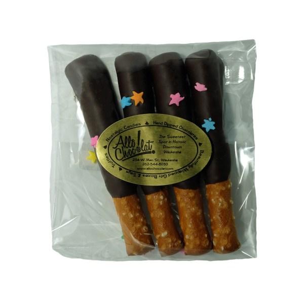 Chocolate-Covered Mini Pretzel Rods