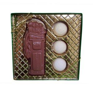 Chocolate Molded Golf Set