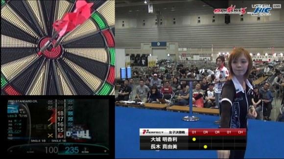 PERFECT2015 第15戦 横浜 女子決勝戦 大城明香利 長木真由美