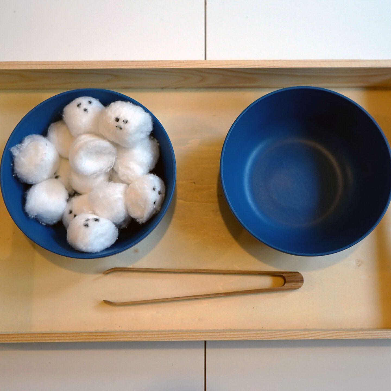 Ghost transfer Montessori Halloween activity