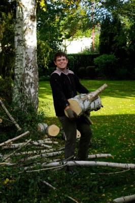 Manutention des troncs et branches