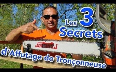 3 Secrets pour affuter sa Tronçonneuse comme un Pro !
