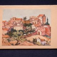 Carte postale sur bois