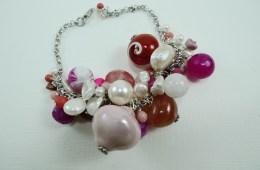 Bracelet «grappe» rose