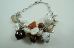 Bracelet «grappe» brun