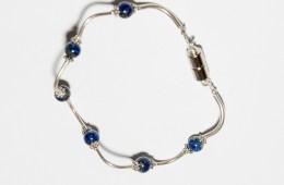 Bracelet Perles Lapis Argent