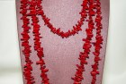 Collier Corail Bambou 3 rangs