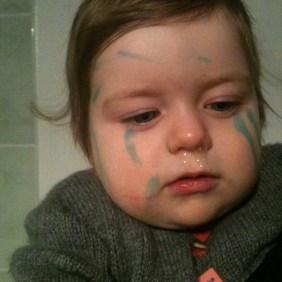 visage crayon feutre