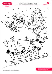 COLORIAGES_NOEL_TRAINEAU