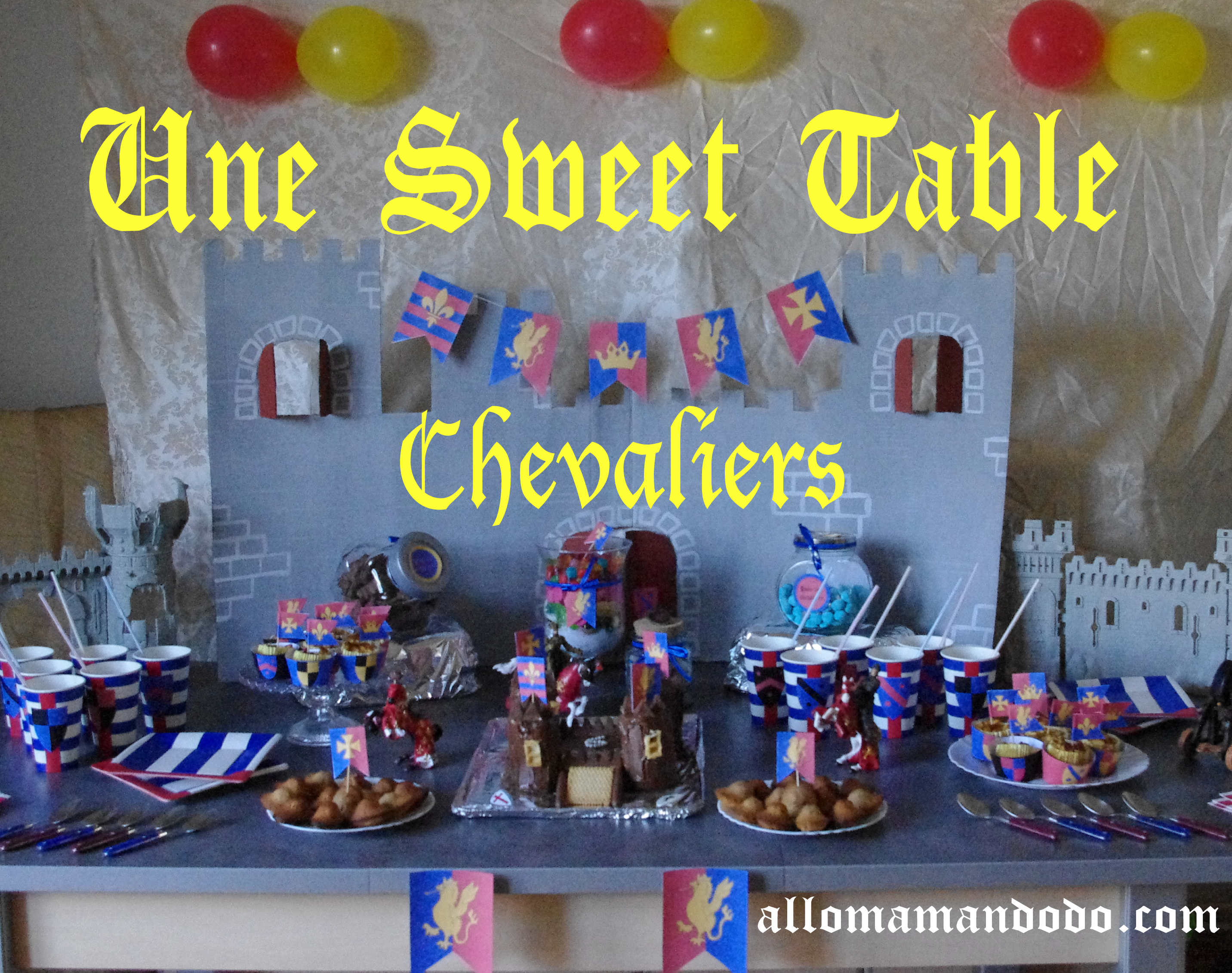 un anniversaire de chevalier sweet table id es d co diy kit imprimer allo maman dodo. Black Bedroom Furniture Sets. Home Design Ideas