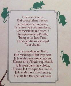 paroles une souris verte