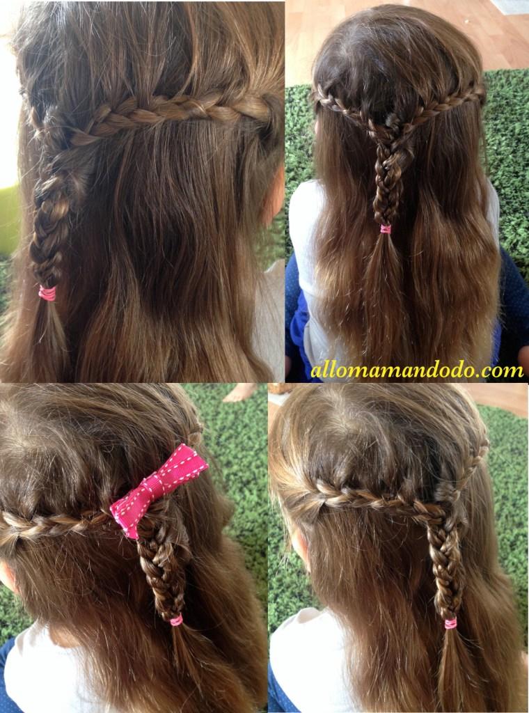 coiffure double tresses fille nattes