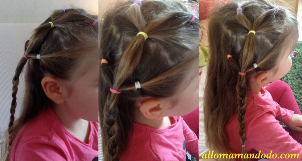 coiffure loom couettes nattes tresse fille