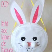 DIY Petit Sac Lapin de Pâques (Avec des assiettes en carton!)