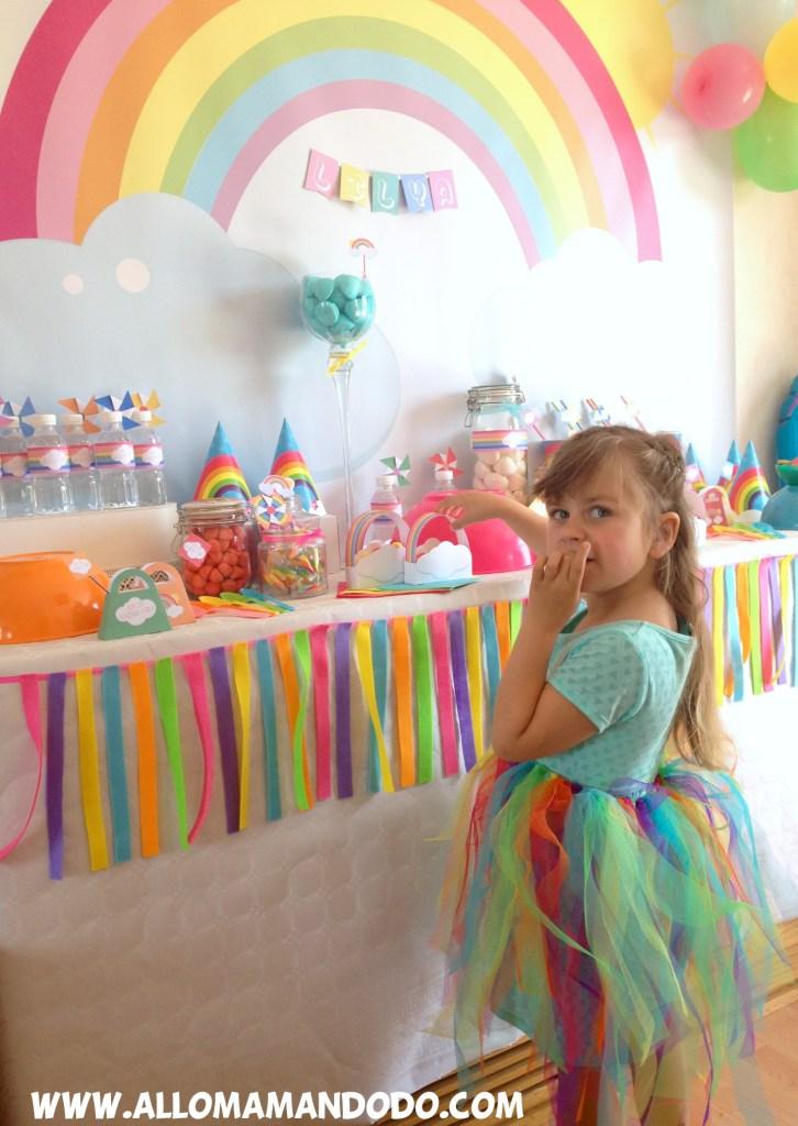 rainbow birthday girl