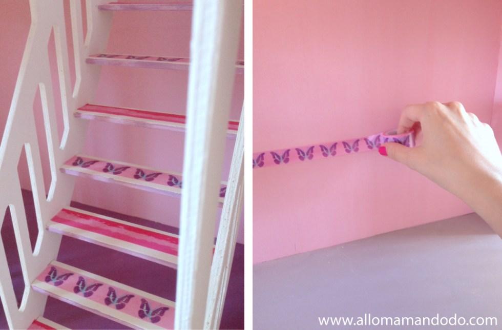 maison poupée rose violette