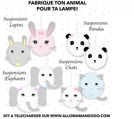 suspensions animaux diy