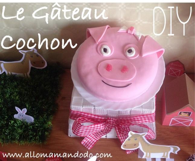diy gateau cochon