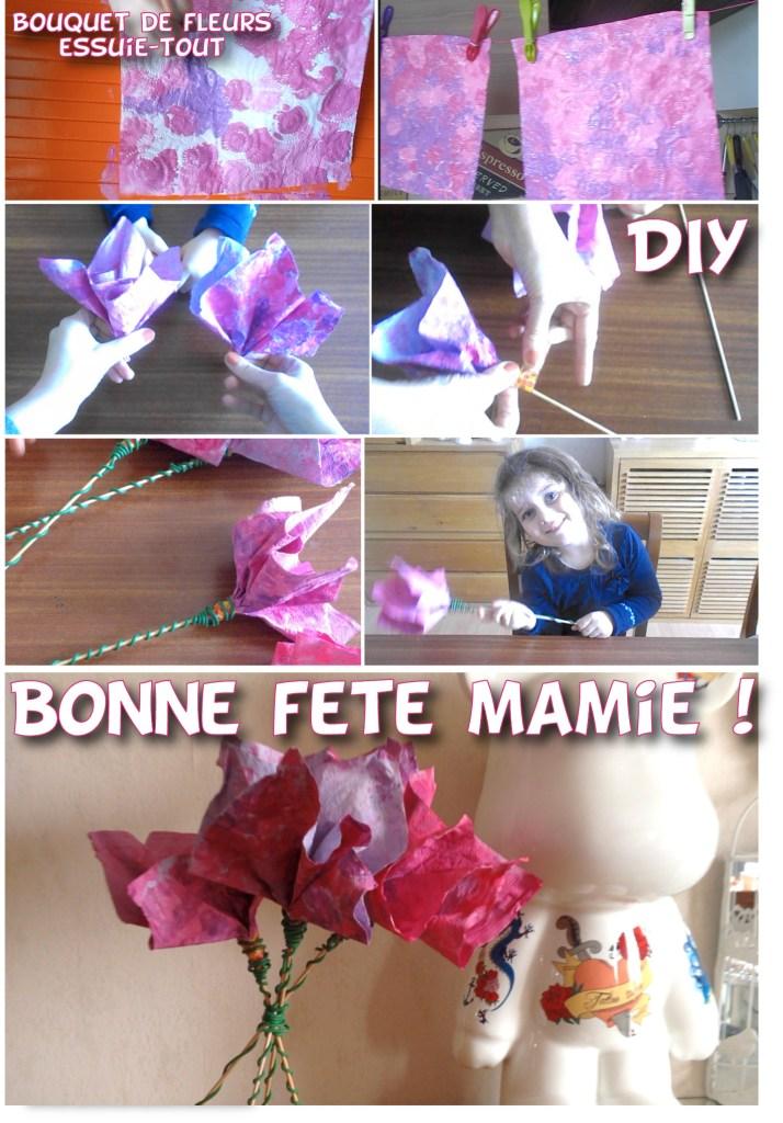 diy essuie tout okay fleurs