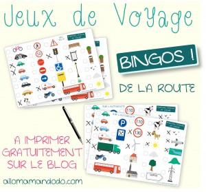 jeux de voyage voiture bingo