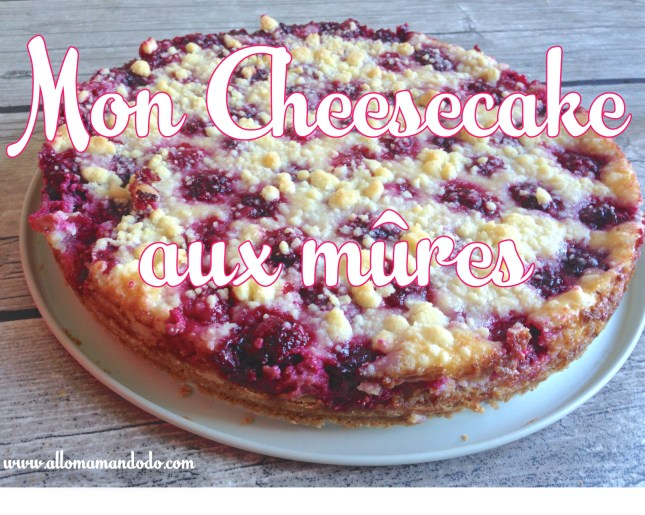 mon cheesecake aux mures