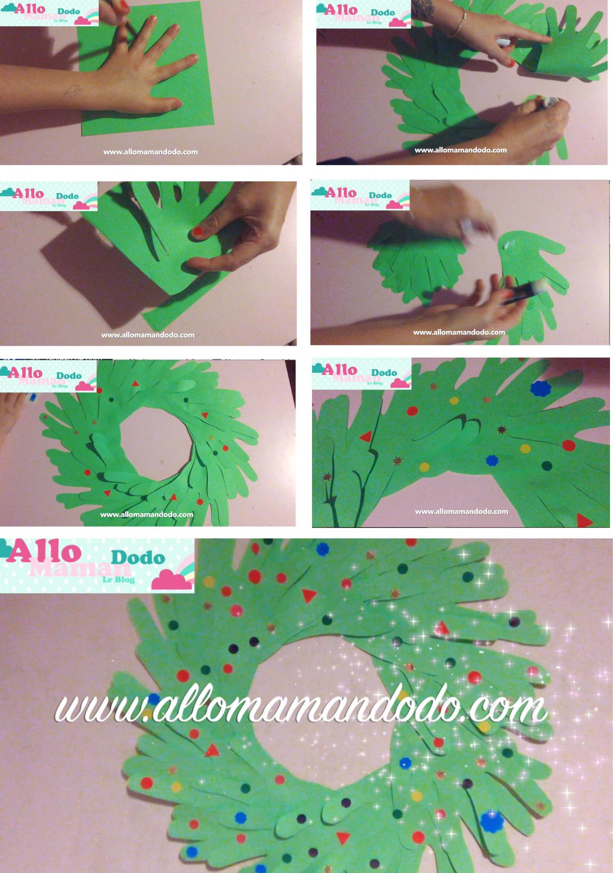 diy couronne de noël en papier (activité facile pour les enfants