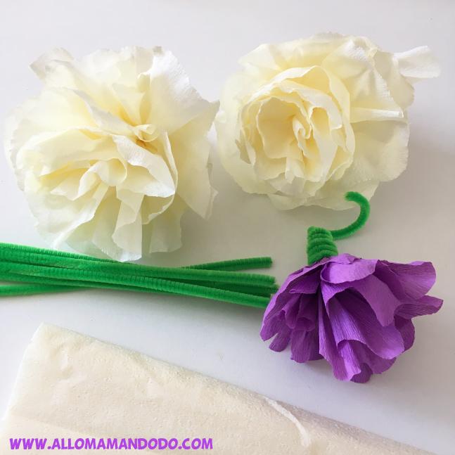 diy fleurs papier crepon