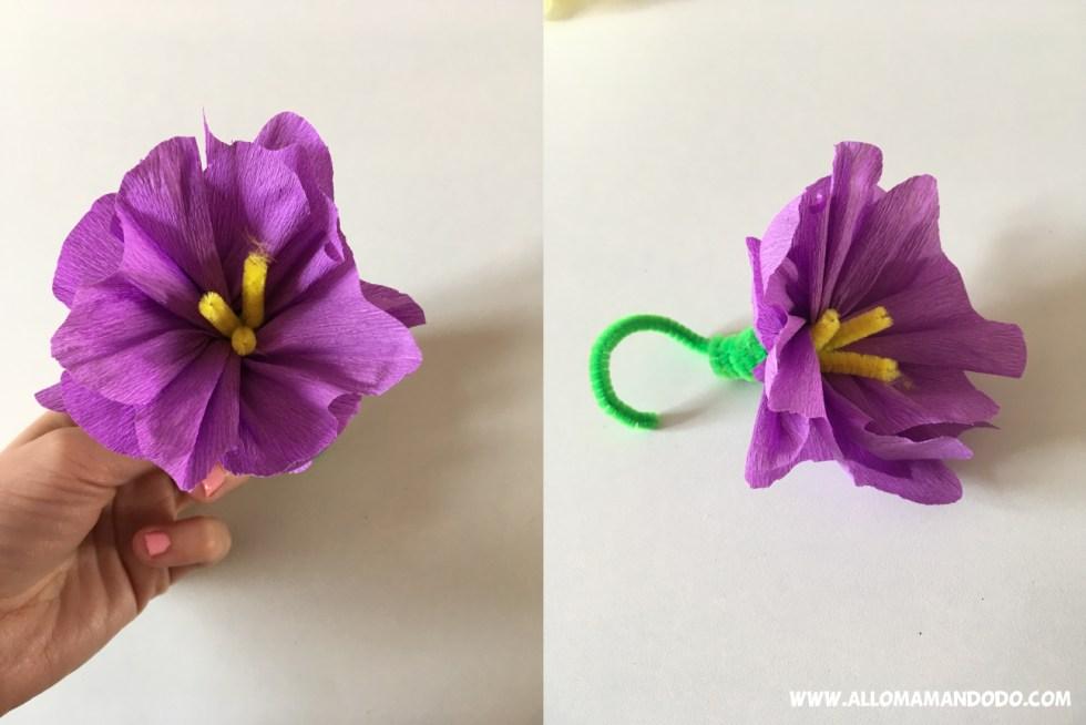 faire une fleur en papier crepon