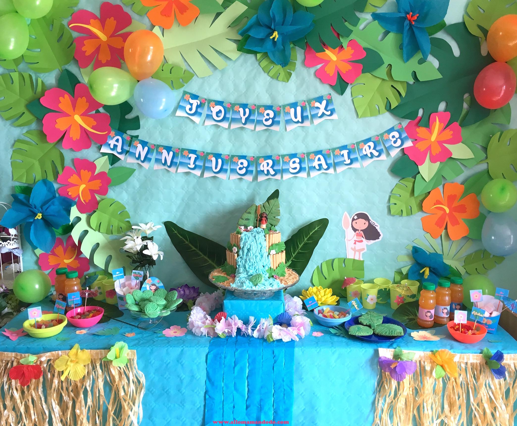 Anniversaire Vaiana Deco Sweet Table Et Activites Faciles Pour Un
