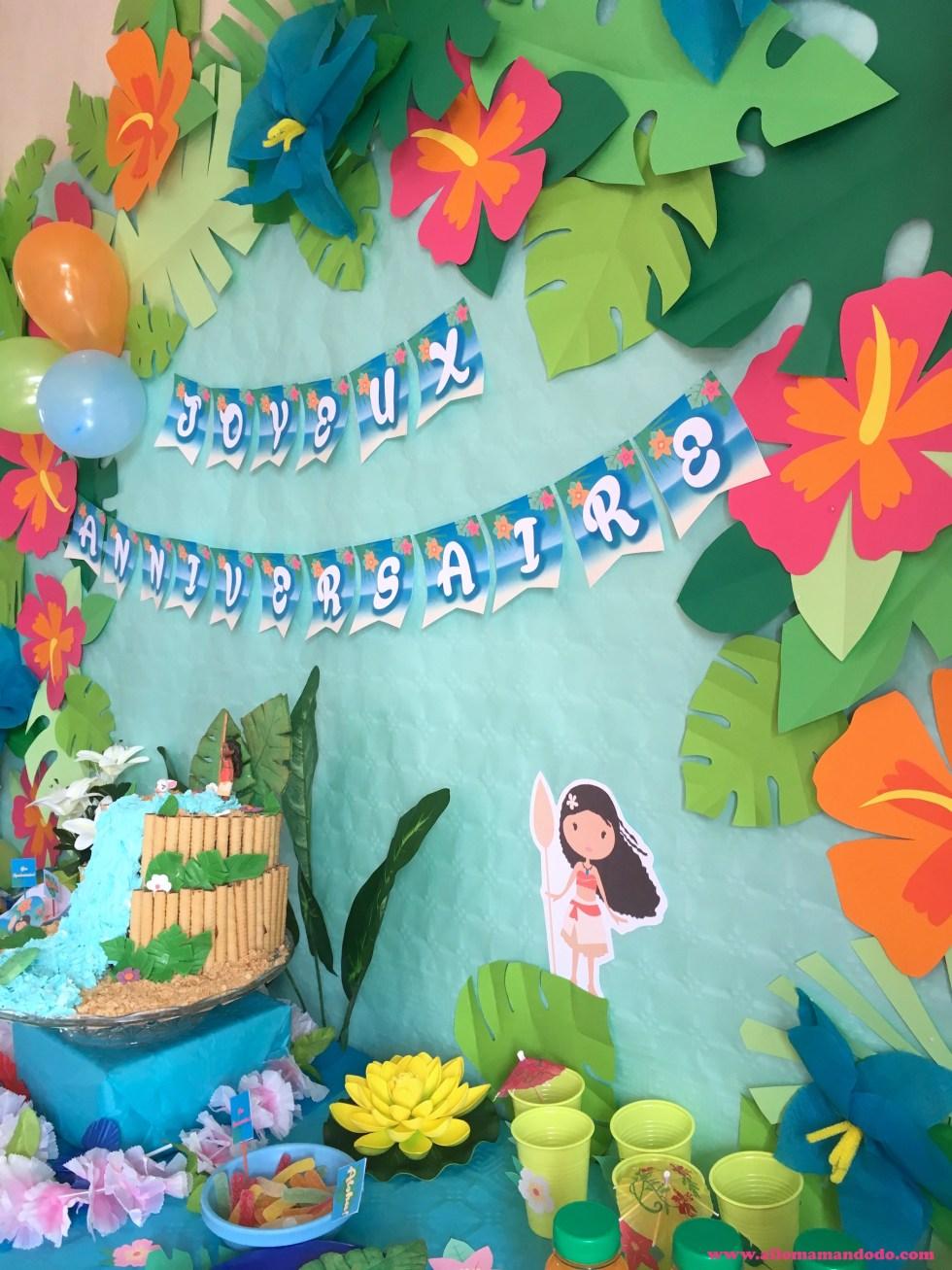 dcoration moana anniversaire vaiana