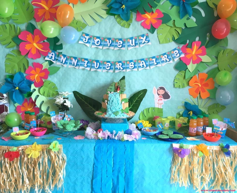 sweet table anniversaire vaiana