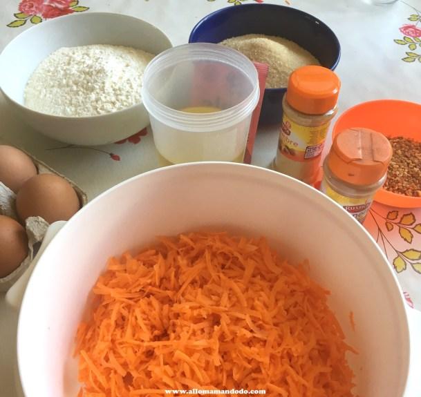 ingredient carrot cake