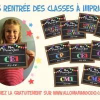 Rentrée des Classes: Les fiches à Imprimer! (Printable Gratuit Crèche Nounou Primaire Collège etc!!)