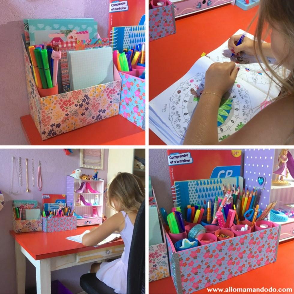DIY organiseur pot à crayons primaire enfant