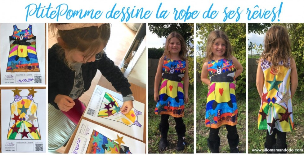 fee parmoha enfant dessine robe