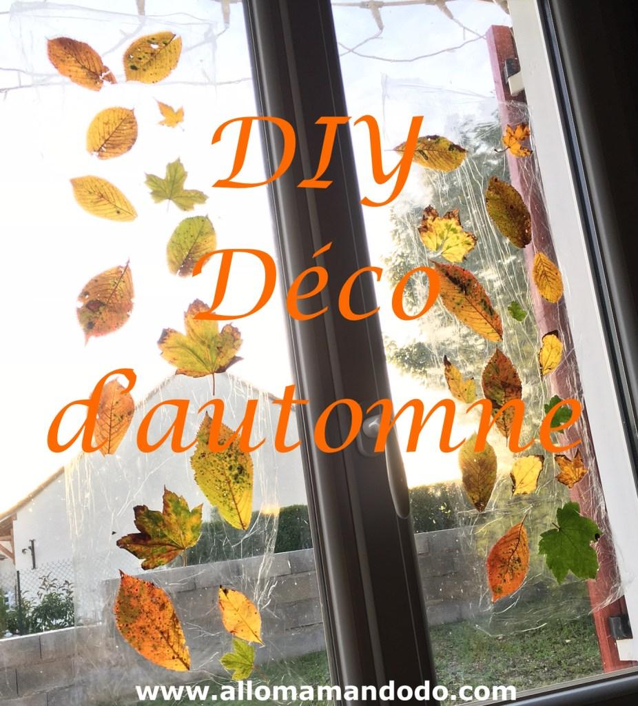 DIY auto fenêtre feuilles automne
