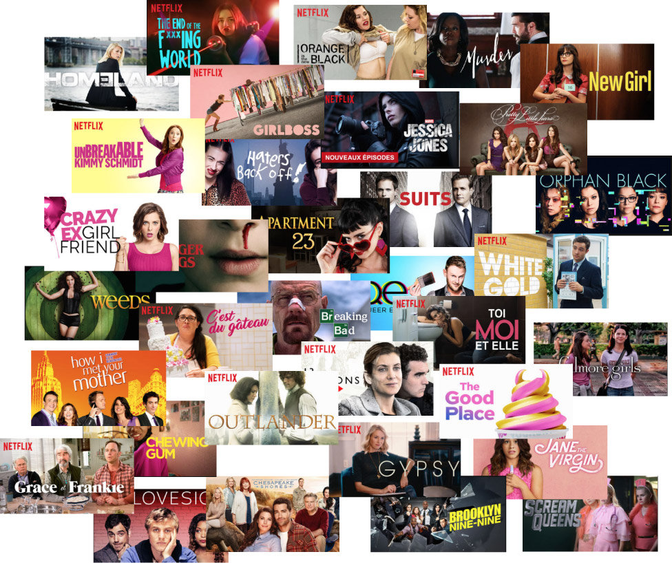 Je suis une Netflix Addict ( Toutes les séries que je suis!)