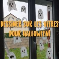 Déco facile d'Halloween: Peinture sur les vitres!