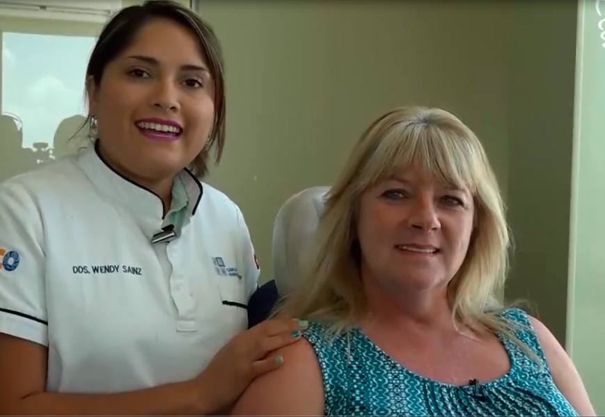A real video testimonial for All-on-4 dental implants in Cancun!