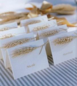 golden grain place cards (via)