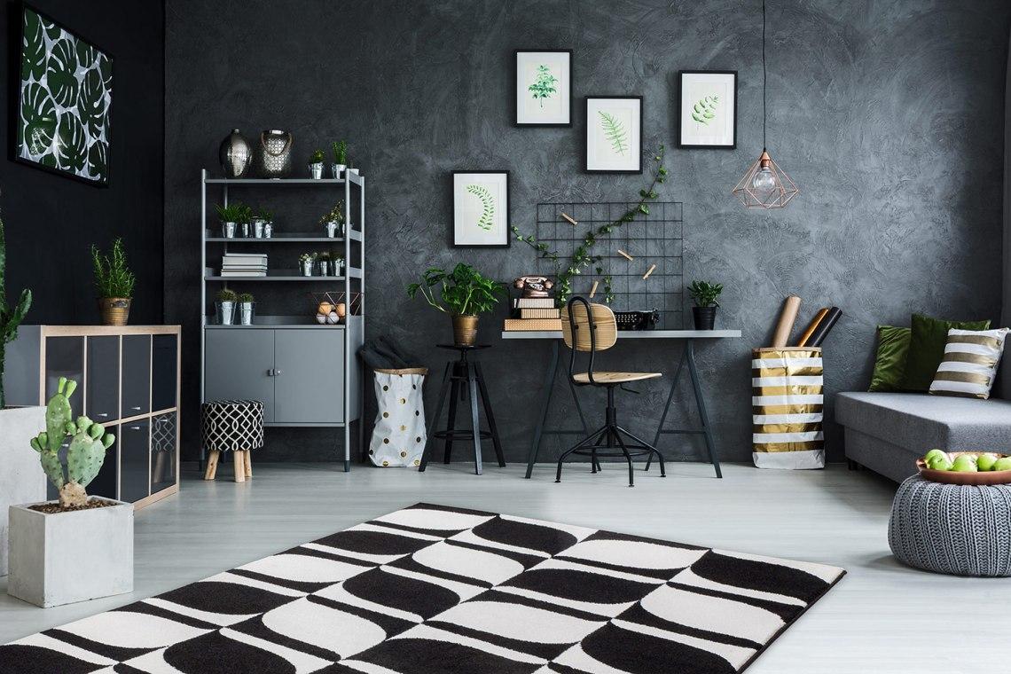 osez le tapis noir et blanc