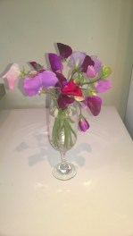 Vase Sweetpeas