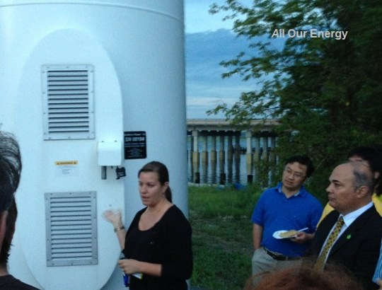 Tara Schneider gives visitors a toiur of the Energy Park.